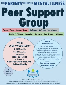Free Support Group for Parents with Mental Illnesses