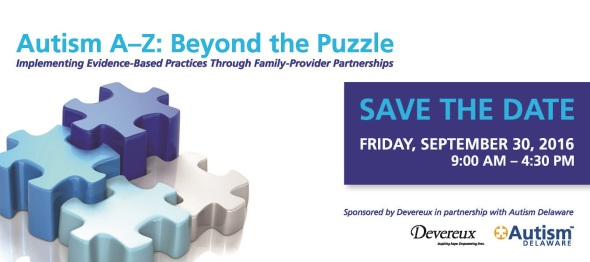 Autism A-Z: Beyond the Puzzle Conference on September 30, 2016